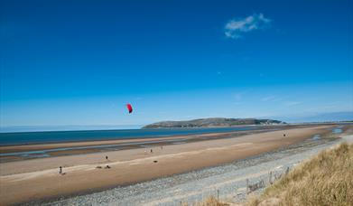 Conwy Morfa Beach and Great Orme in background