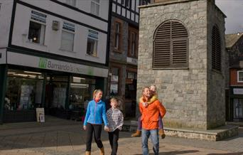 Walking in Ancaster Square, Llanrwst