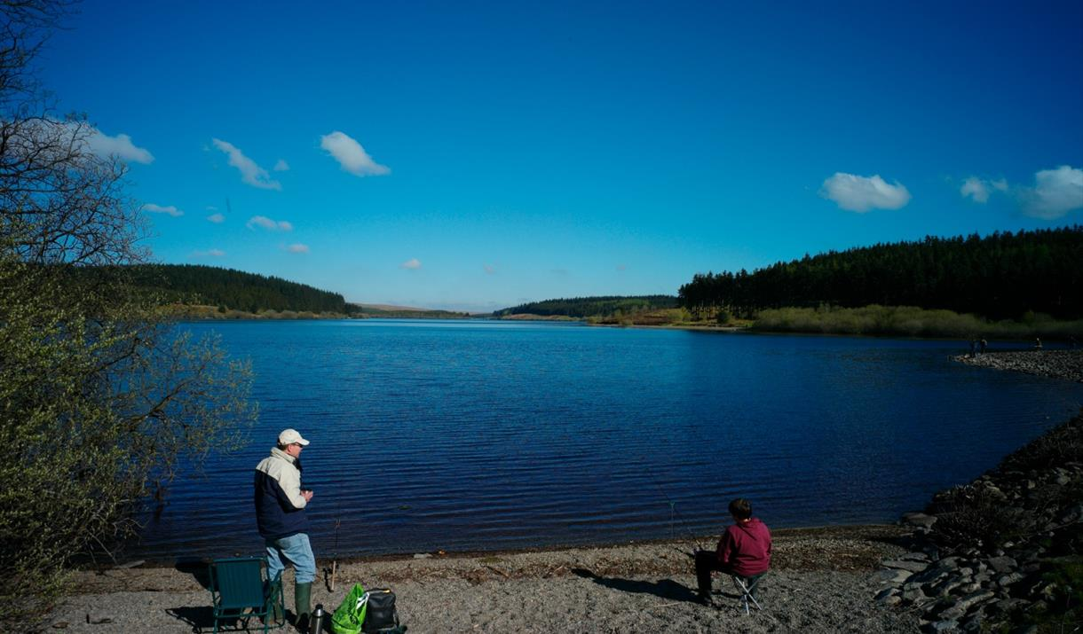 Fishing at Alwen Reservoir